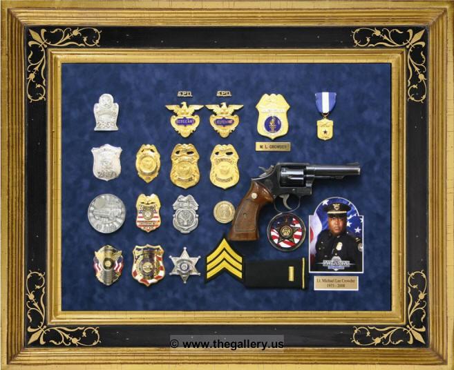 Kennesaw Police Department Custom Shadowbox Frames